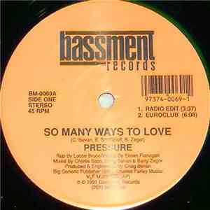 Pressure - So Many Ways To Love mp3 album